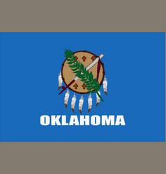 flag of oklahoma usa vector image