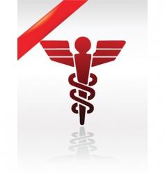 health symbol vector image vector image