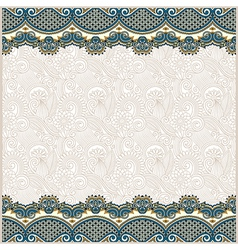 ornate floral background with two ornament stripe vector image vector image