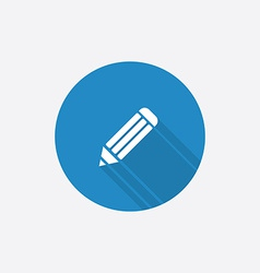 pencil Flat Blue Simple Icon with long shadow vector image vector image