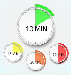 Realistic clock timer stopwatch icon vector image