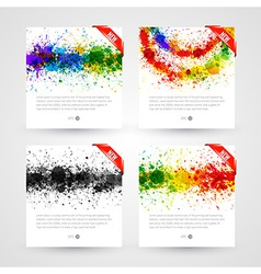 Set of bright paint splashes vector image