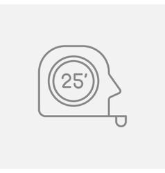 Tape measure line icon vector image