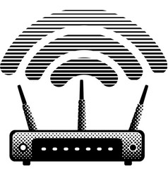 Witeless router and modem vector