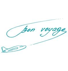 Bon voyage design summer postcard vector