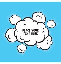 Cartoon pop art clouds isolated background vector image vector image