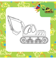 Dredge toy outlined vector image vector image