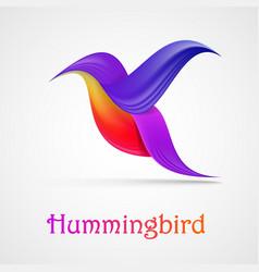 hummingbird abstract symbol vector image