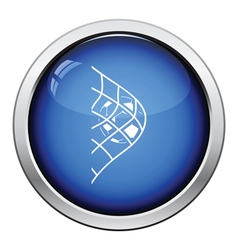 Icon of football ball in gate net vector image
