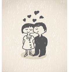 In love vector image