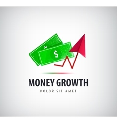 Money growth logo icon isolated vector