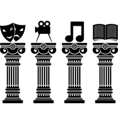 pedestals of arts stencils vector image