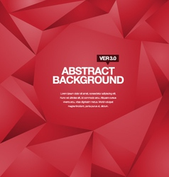 Polygonal Background Red vector image
