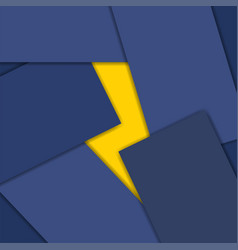 thunder icon in material design vector image vector image