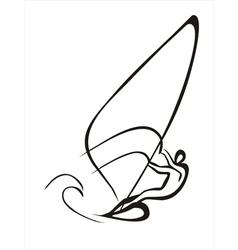 windsurfer vector image