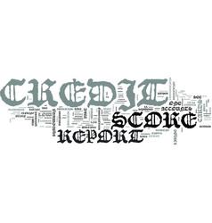 z credit score report text word cloud concept vector image vector image