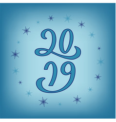 2019 for calendar typography poster flyer banner vector image