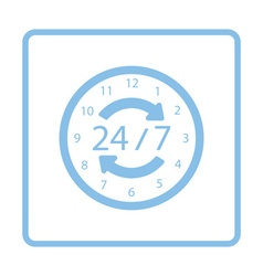 24 hour icon vector image