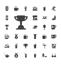33 cup icons vector