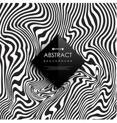 abstract black and white free line pattern cover vector image