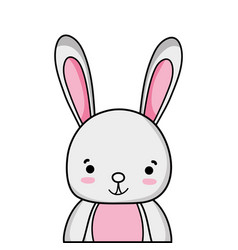 Adorable and happy rabbit wild animal vector