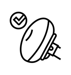 Airbag testing car line icon vector