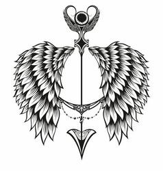angel wings vector image