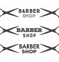 Barber shop bage vector