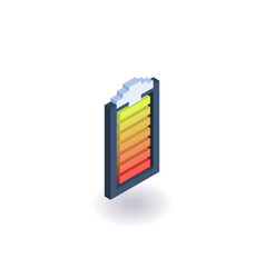 battery indicator isometric icon vector image