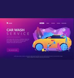 car wash service concept landing page vector image