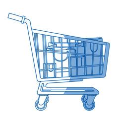 cart buying market shopping bags vector image