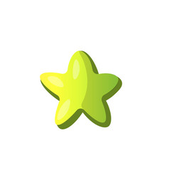 cartoon green star icon green cartoon star vector image