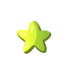 cartoon green star icon green cartoon star vector image