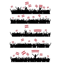 Cheering or Protesting Crowd Austria vector image