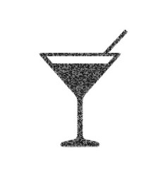 Cocktail sign black icon vector