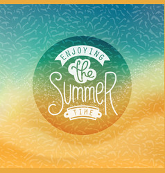creative summer label stylized tropic beachfront vector image