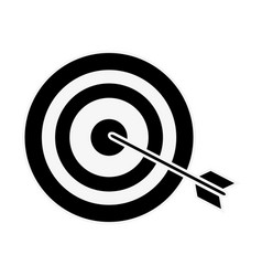 dartboard with arrow vector image