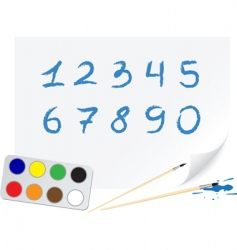 drawing digits vector image