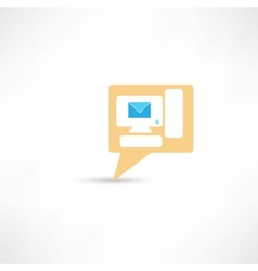 email on pc computer vector image
