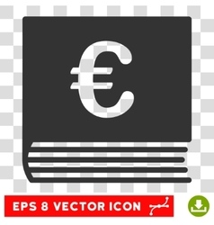 Euro Sales Book Eps Icon vector