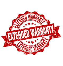 extended warranty stamp sign seal vector image