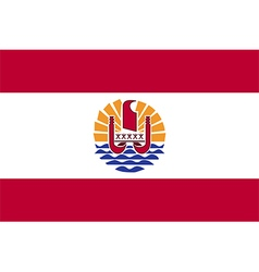 Flag of french polynesia vector