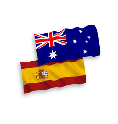 Flags australia and spain on a white background vector