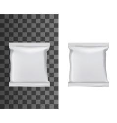 flow packs white blank foil food packaging vector image