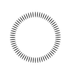 Geometric circle element made of radiating shapes vector