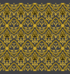 gold royal pattern seamless background vector image