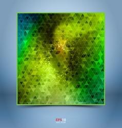 Green black mosaic template vector image