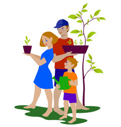 green family vector image