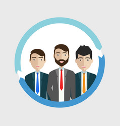 group of business men working people on white vector image
