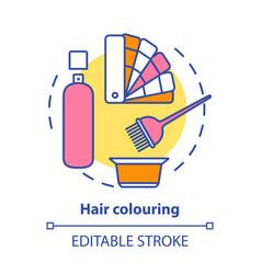 Hair colouring concept icon highlighting vector
